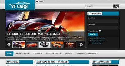 Joomla 2.5 шаблон VT Cars — VTEM