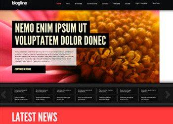 Joomla 2.5 шаблон Blogline — JoomlaXTC