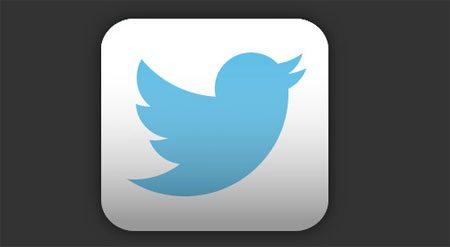 Иконка Twitter с градиентом
